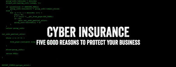 Five Reasons To Protect Your Business With Cyber Insurance