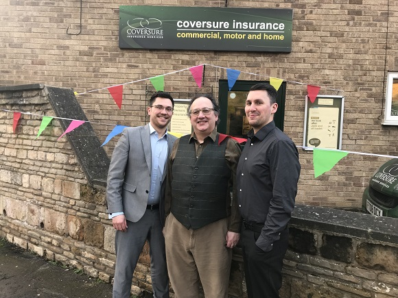 Joe, Mark and Gareth Coverdale outside of Coversure Stamford